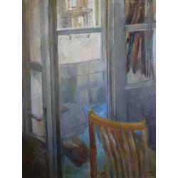 Eugen Nevan (pripisované): Pohľad z izby cez balkón