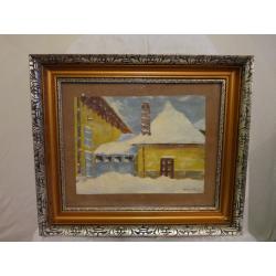 Ernest Zmeták (pripisované): Zasnežený domček