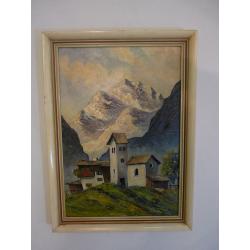 neznámy: Domčeky v Alpách