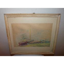 František Reichentál (pripisované): loďky pri móle
