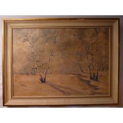 Anton Jasusch (pripisované): Zimný potok v brezovom háji