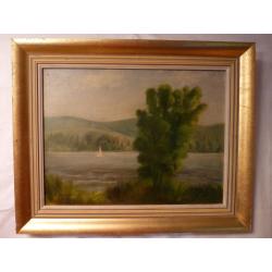 František Reichentál (pripisované): Plachetnica na jazere