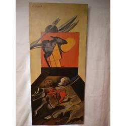 Vincent Hložník (pripisované): Abstraktná kompozícia