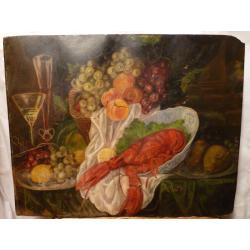 Jozef Teodor Mousson (pripisované): Zátišie s ovocím a rakom