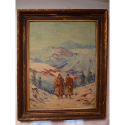 Jozef Teodor Mousson (pripisované): Drevorubači v Tatrách
