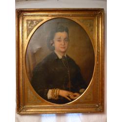 Peter M. Bohúň (pripisované): Portrét ženy