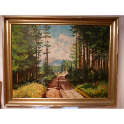 Ľudovít Csordák (pripisované): Lesná cesta