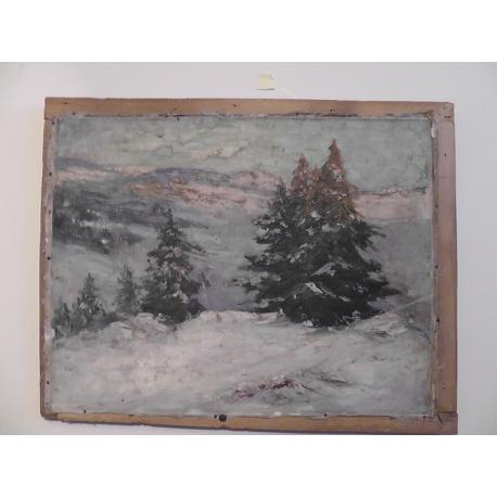 neznámy: Zimná horská krajina