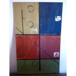 Alois Klimo (pripisované): Geometrická kompozícia - obdĺžniky