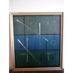 Alois Klimo (pripisované): Geometrická kompozícia - čiary a kruhy