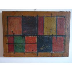 Alois Klimo (pripisované): Geometrická kompozícia -obdlžníky