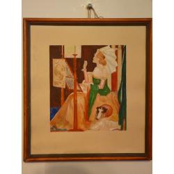 Ferdinand Hložník (pripisované): Sediaca dáma