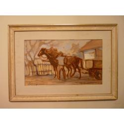 neznámy: Pohonič s koňmi