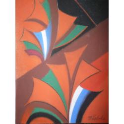 Milan Laluha (pripisované): Farebná kompozícia