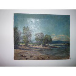 Ľudovít Csordák (pripisované): Krajina s riekou