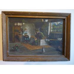 Bogic: Posedenie pri peci v horskej chalúpke